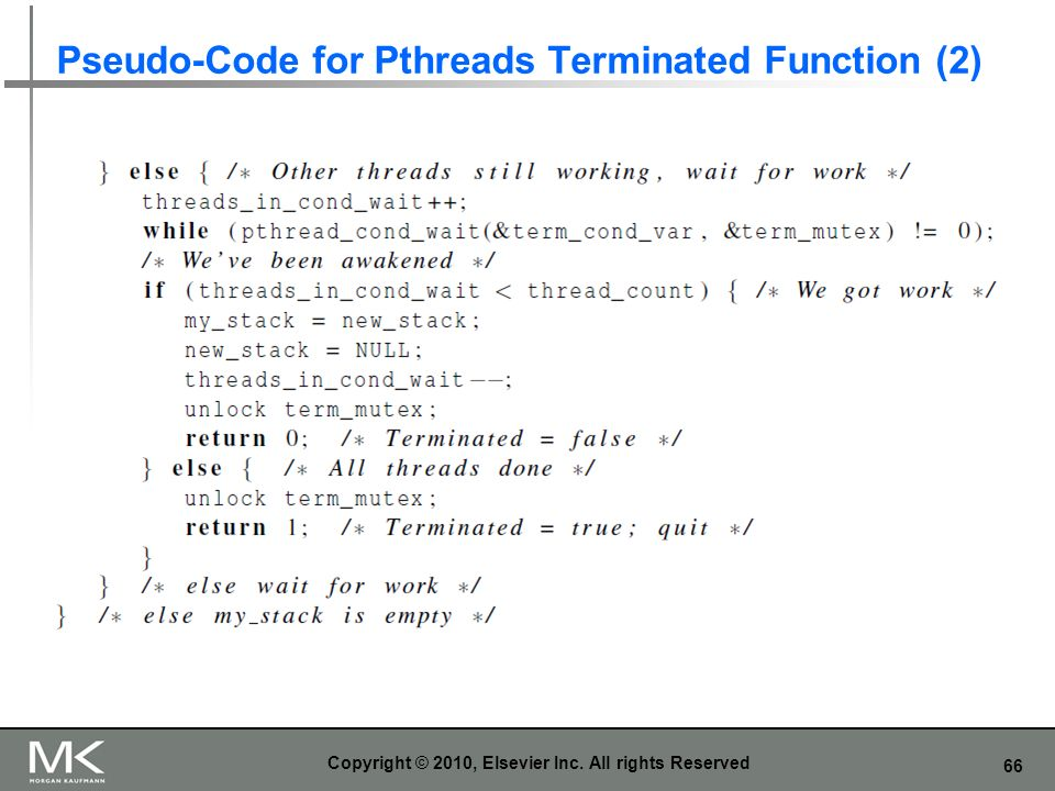 Pseudo-Code for Pthreads Terminated Function (2)