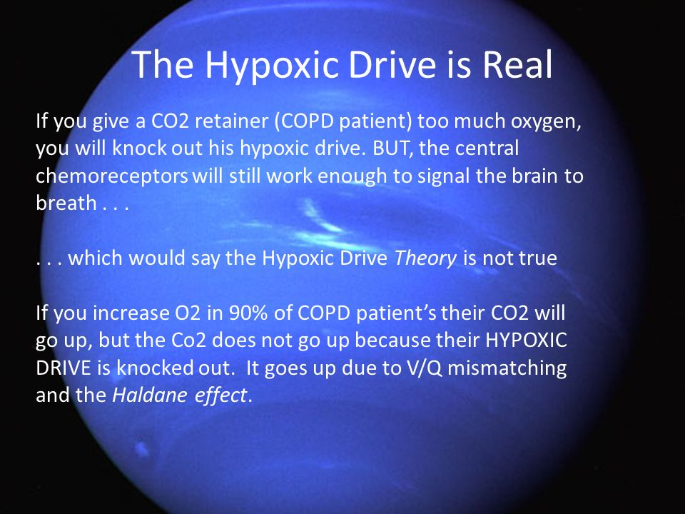 The Hypoxic Drive is Real