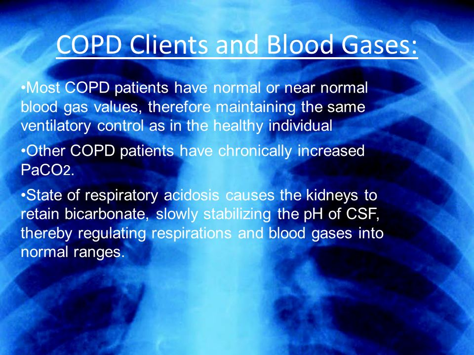 COPD Clients and Blood Gases: