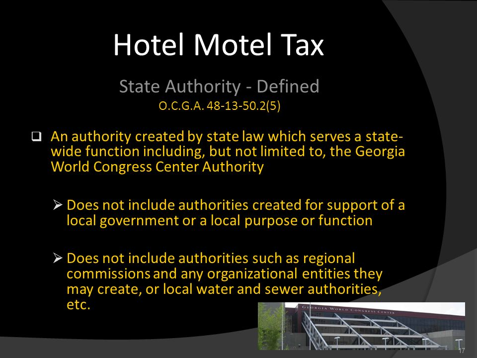 State Authority - Defined