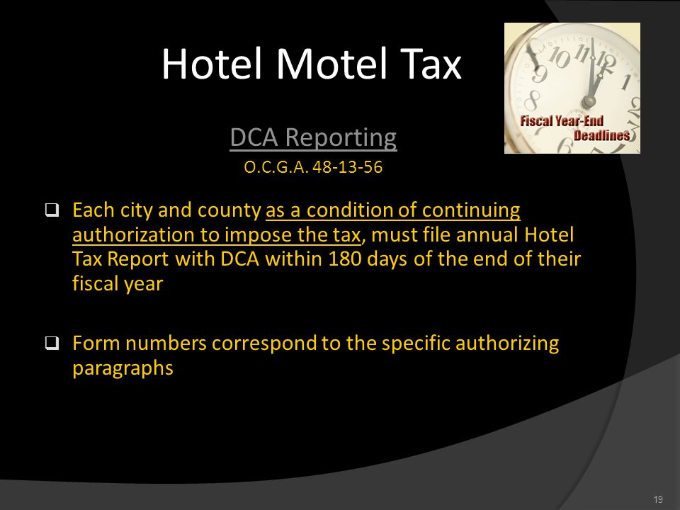 Hotel Motel Tax DCA Reporting