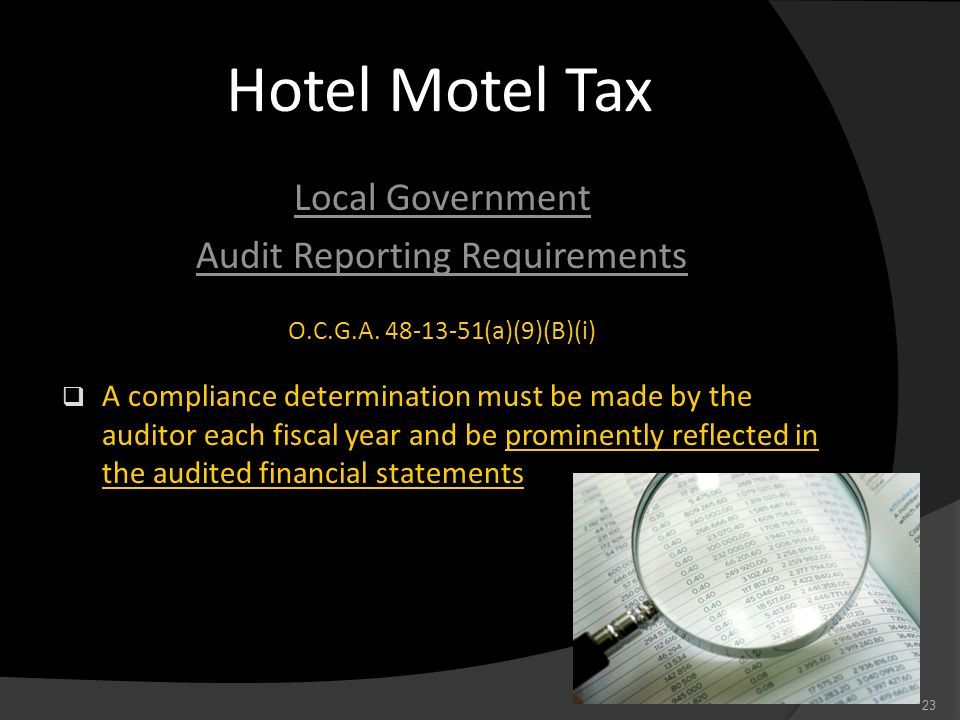 Audit Reporting Requirements