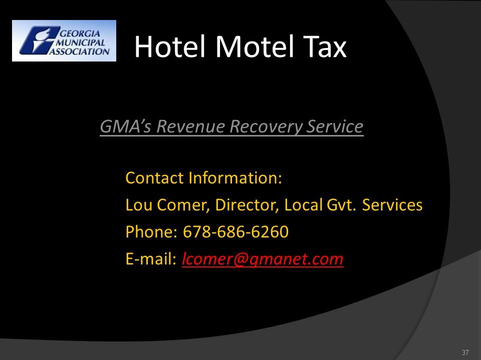 GMA's Revenue Recovery Service