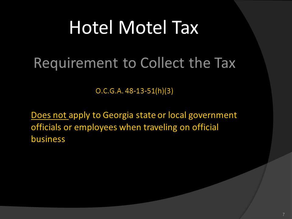 Requirement to Collect the Tax
