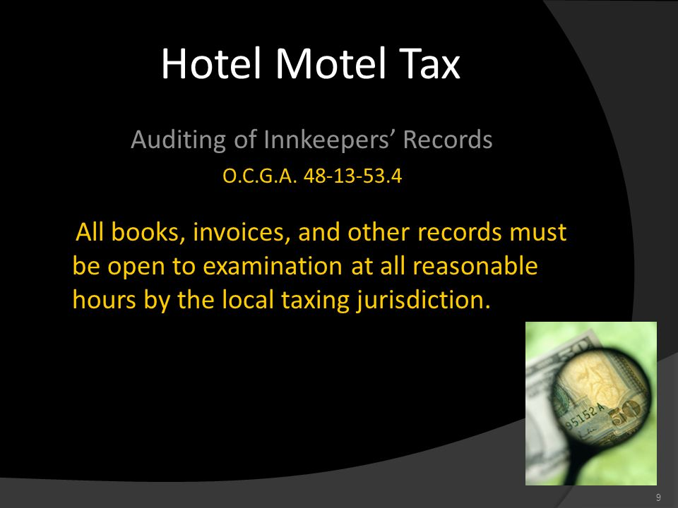 Auditing of Innkeepers' Records