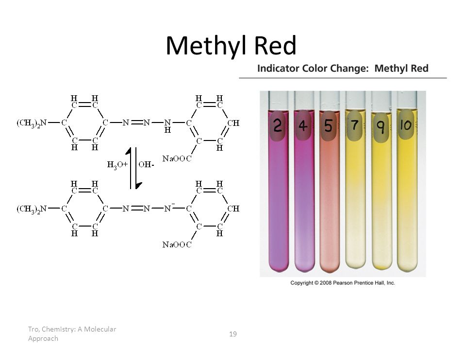 Methyl Red Tro, Chemistry: A Molecular Approach