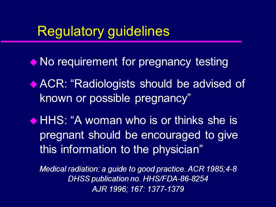 Regulatory guidelines