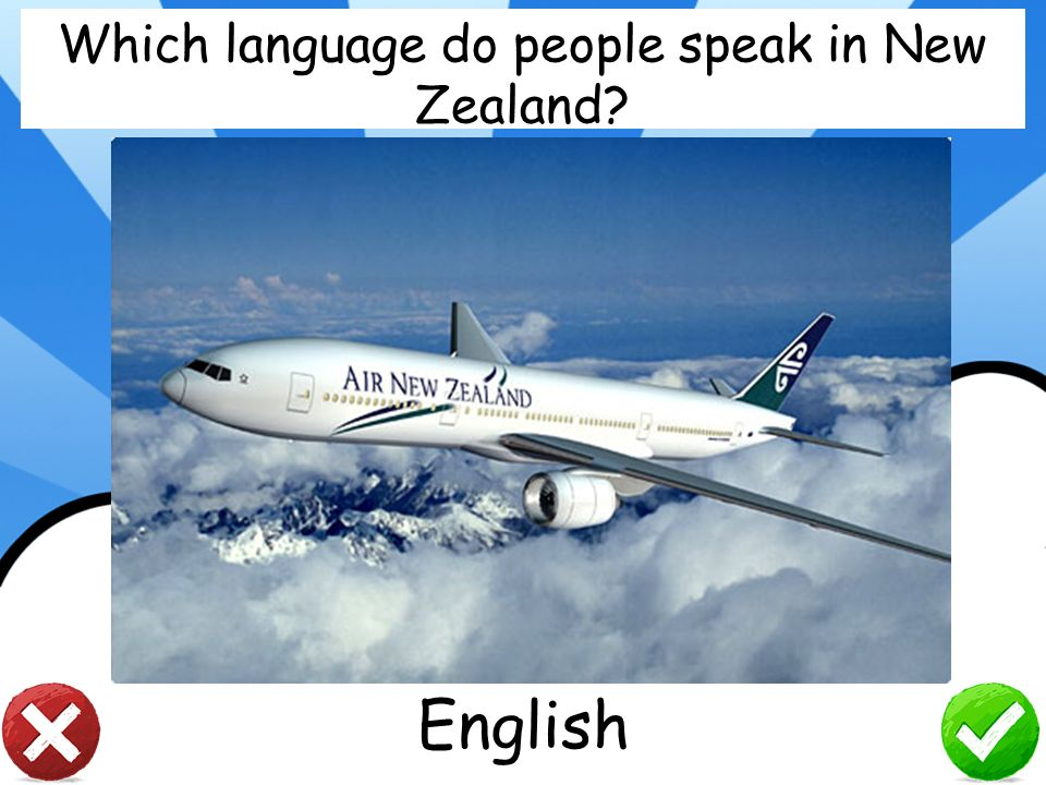 Which language do people speak in New Zealand