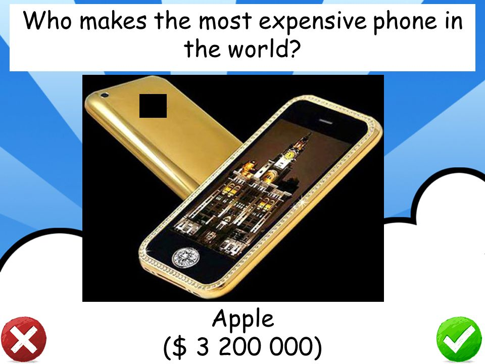 Who makes the most expensive phone in the world