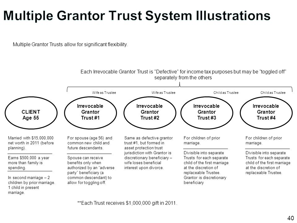 Multiple Grantor Trust System Illustrations