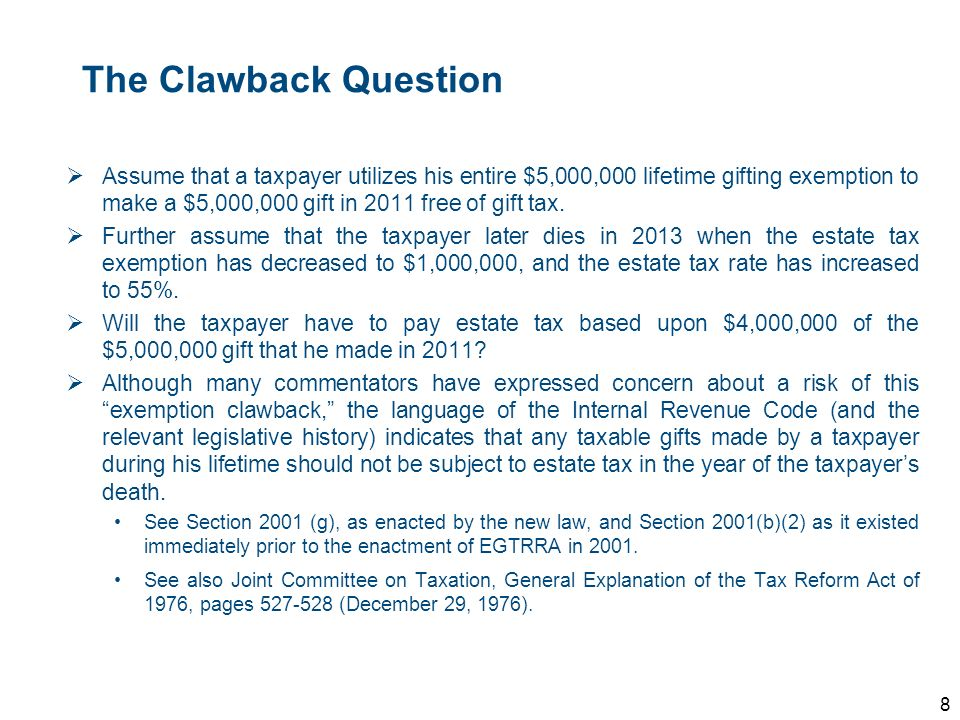 The Clawback Question
