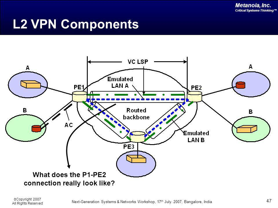 What does the P1-PE2 connection really look like