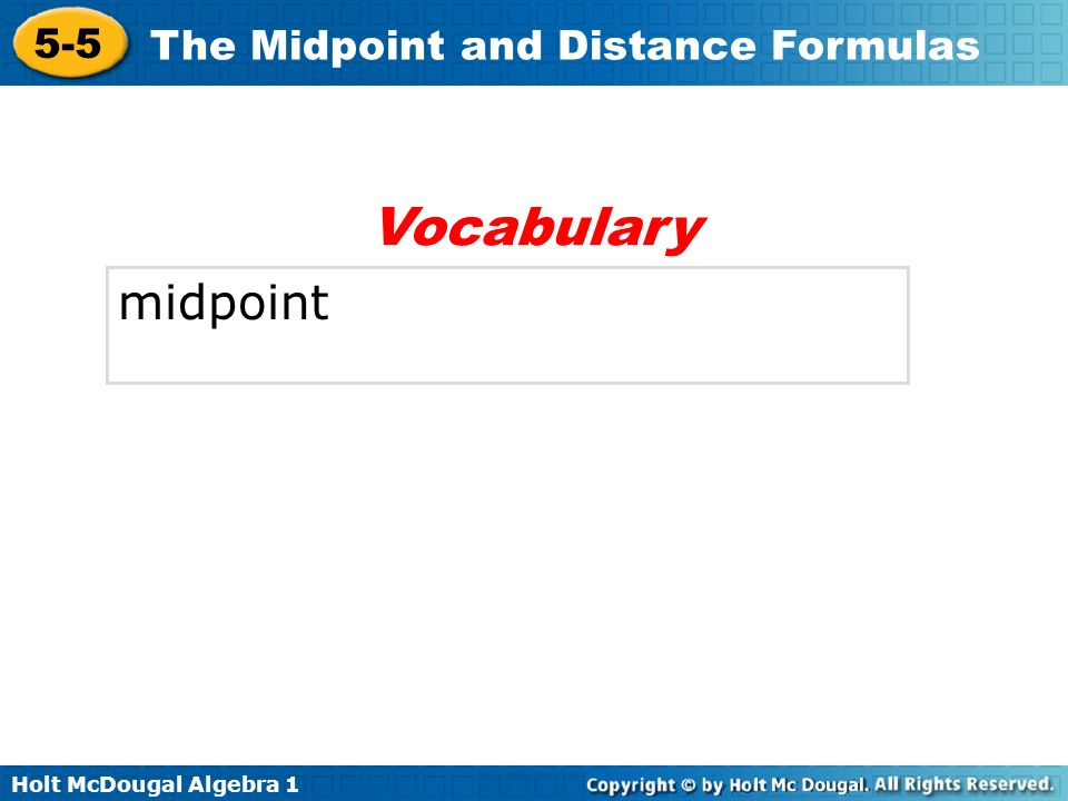 Vocabulary midpoint