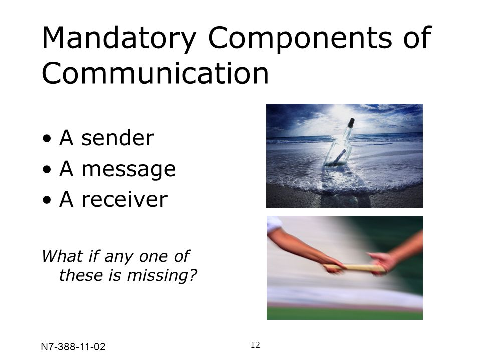 Mandatory Components of Communication