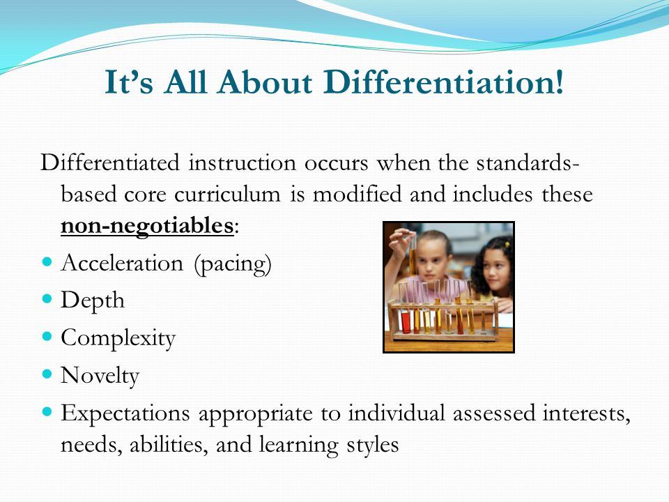 It's All About Differentiation!