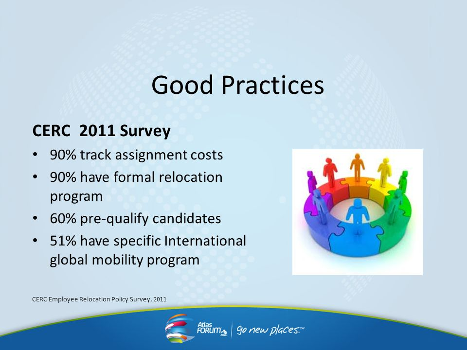 Good Practices CERC 2011 Survey 90% track assignment costs
