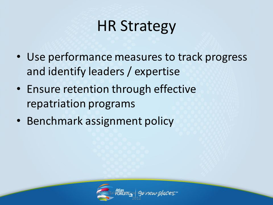 HRPA Talent Pipeline Conference April 19, 2012