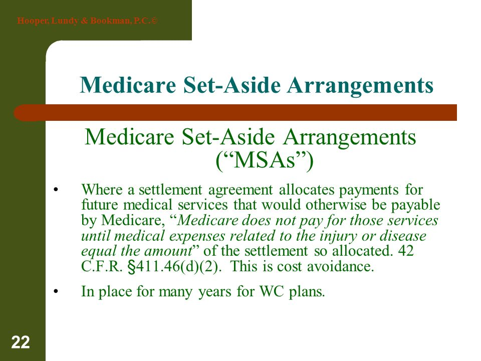 Medicare Set-Aside Arrangements