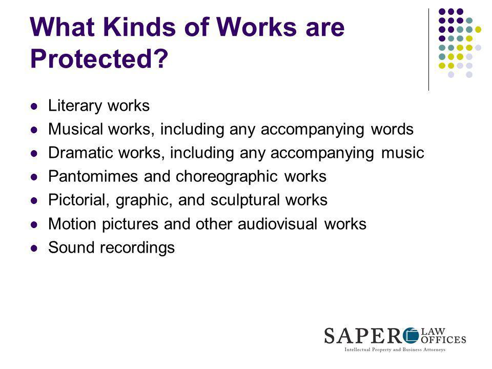 What Kinds of Works are Protected