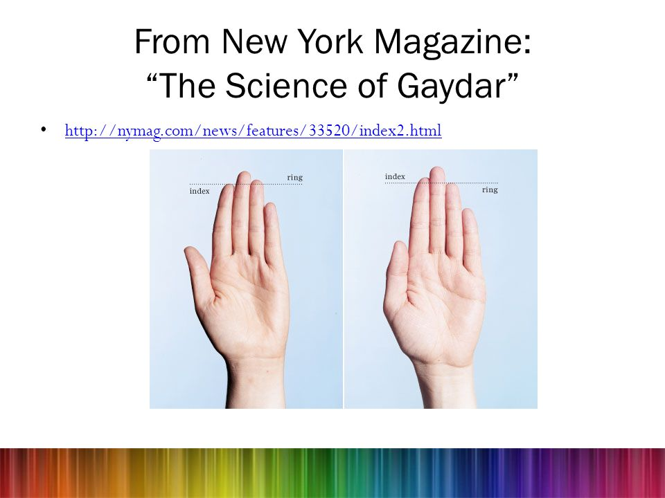 From New York Magazine: The Science of Gaydar