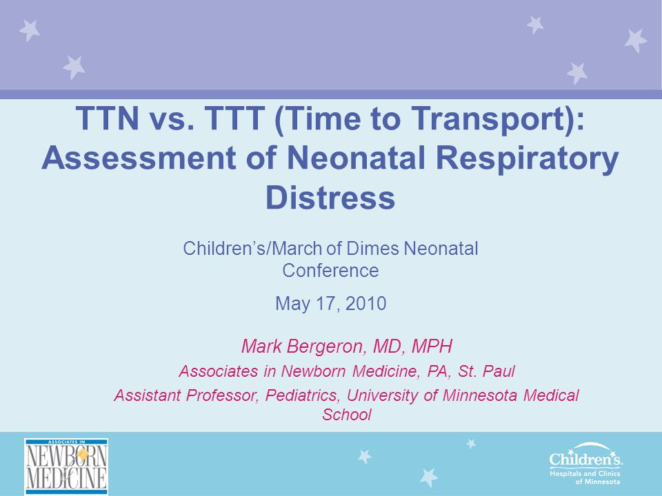 TTN vs. TTT (Time to Transport):