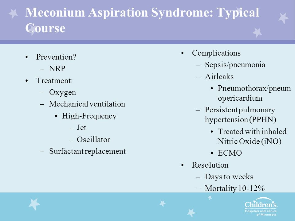 Meconium Aspiration Syndrome: Typical Course