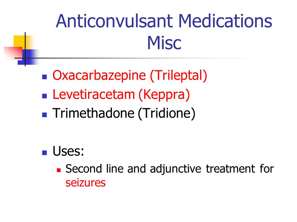 Anticonvulsant Medications Misc