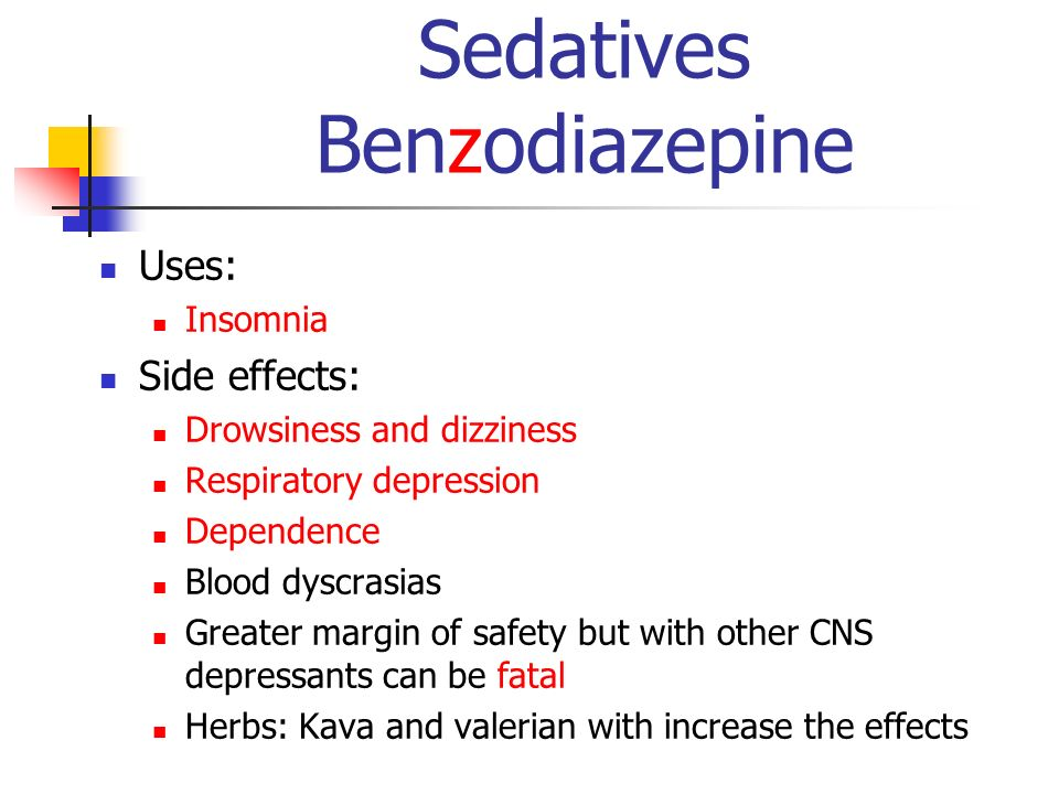 Sedatives Benzodiazepine