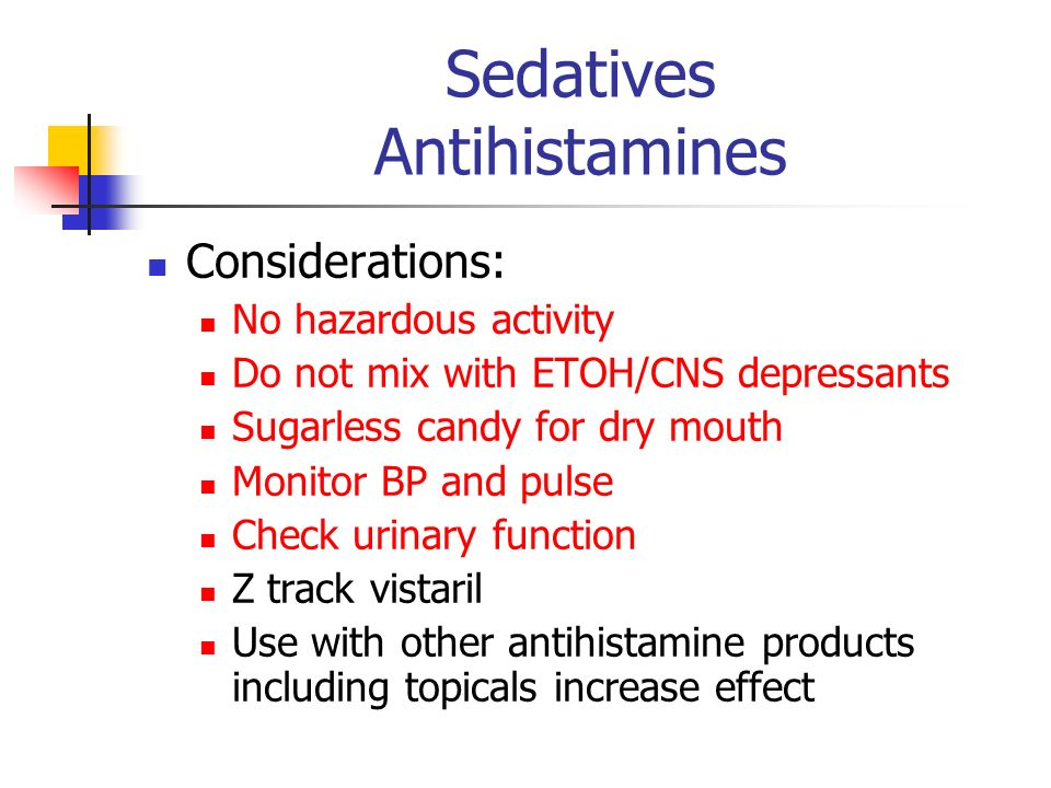 Sedatives Antihistamines