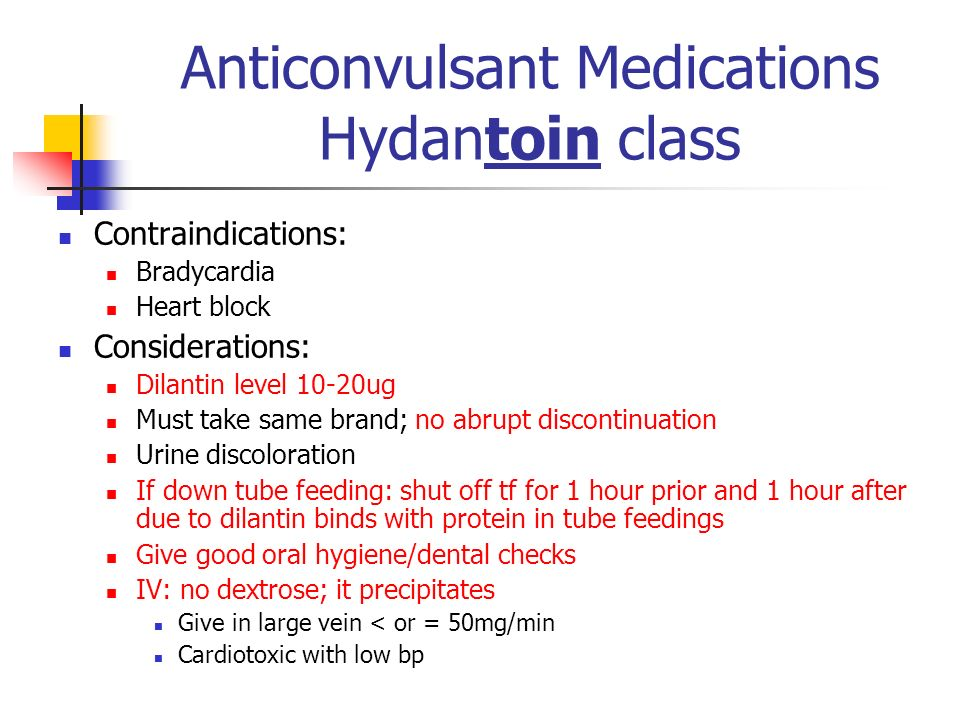 Anticonvulsant Medications Hydantoin class