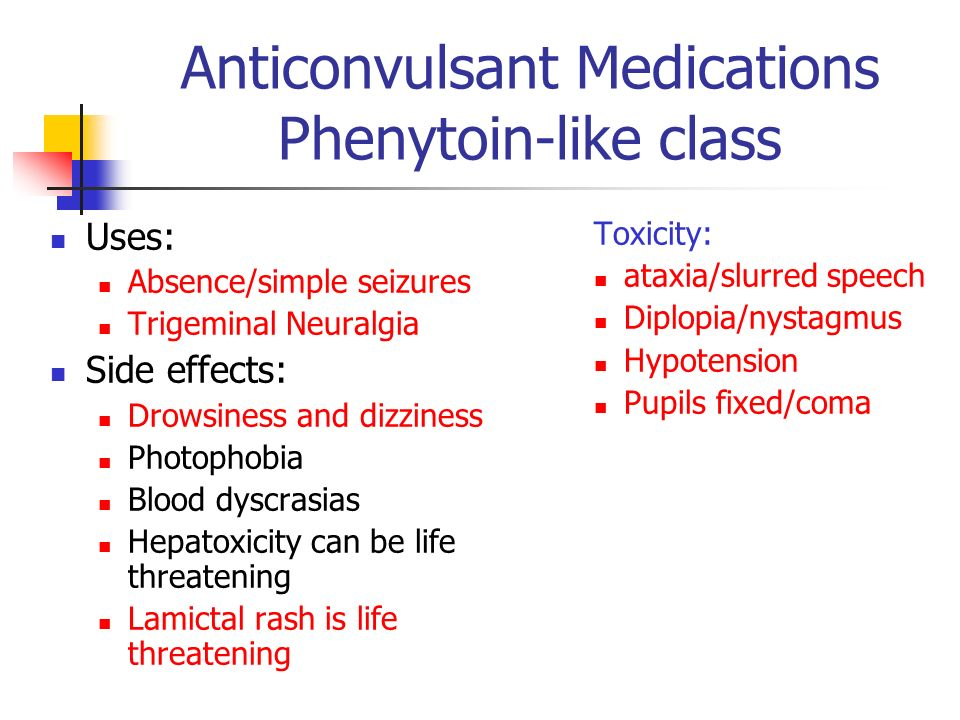 Anticonvulsant Medications Phenytoin-like class