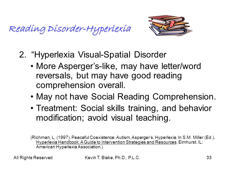 Reading Disorder-Hyperlexia