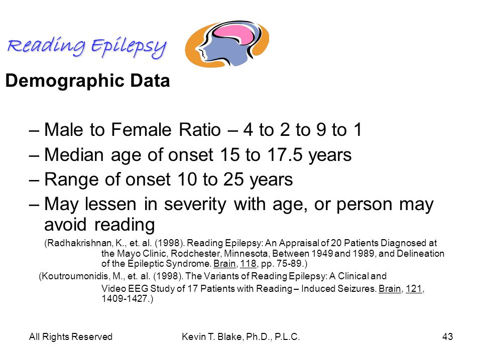 Reading Epilepsy Demographic Data