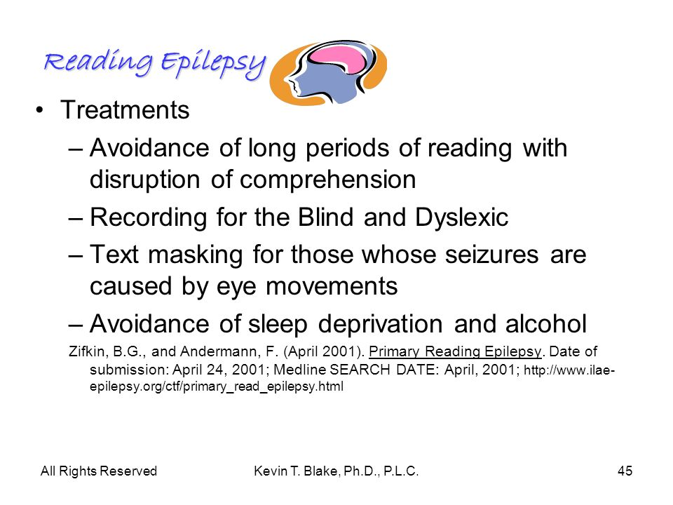 Reading Epilepsy Treatments