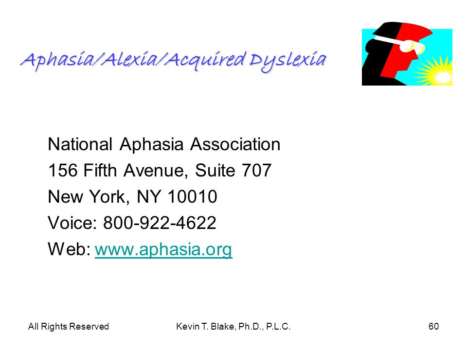 Aphasia/Alexia/Acquired Dyslexia