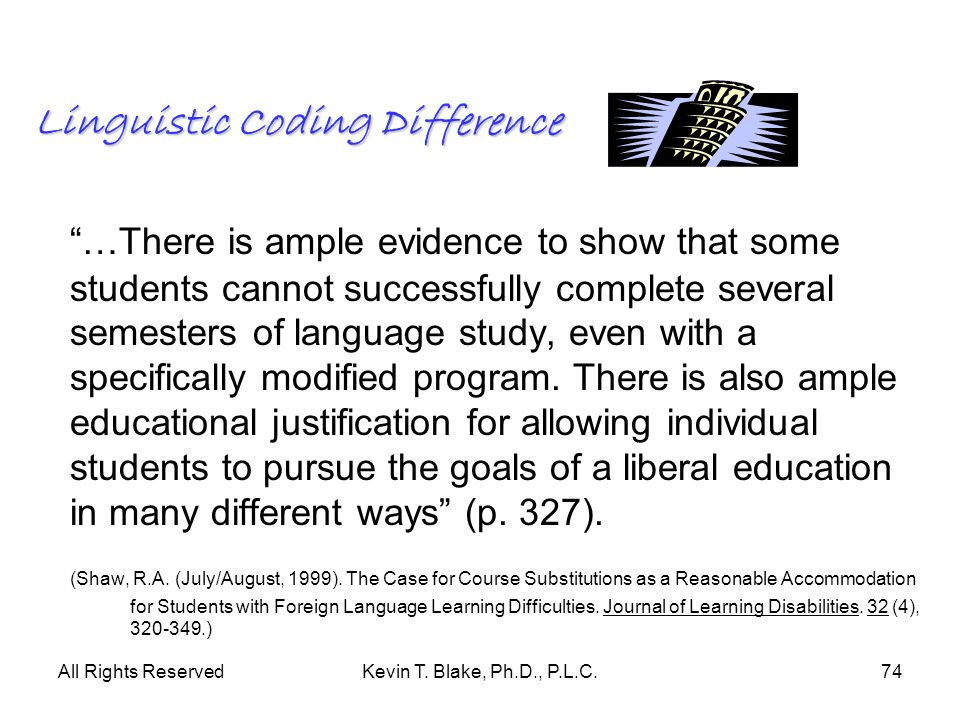 Linguistic Coding Difference