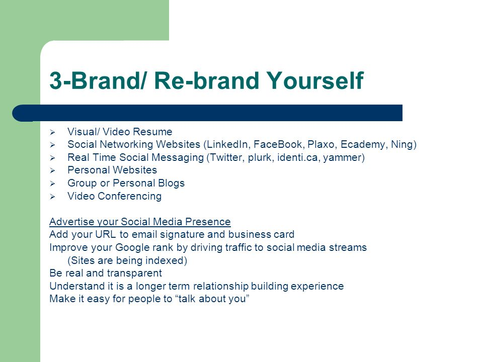 3-Brand/ Re-brand Yourself