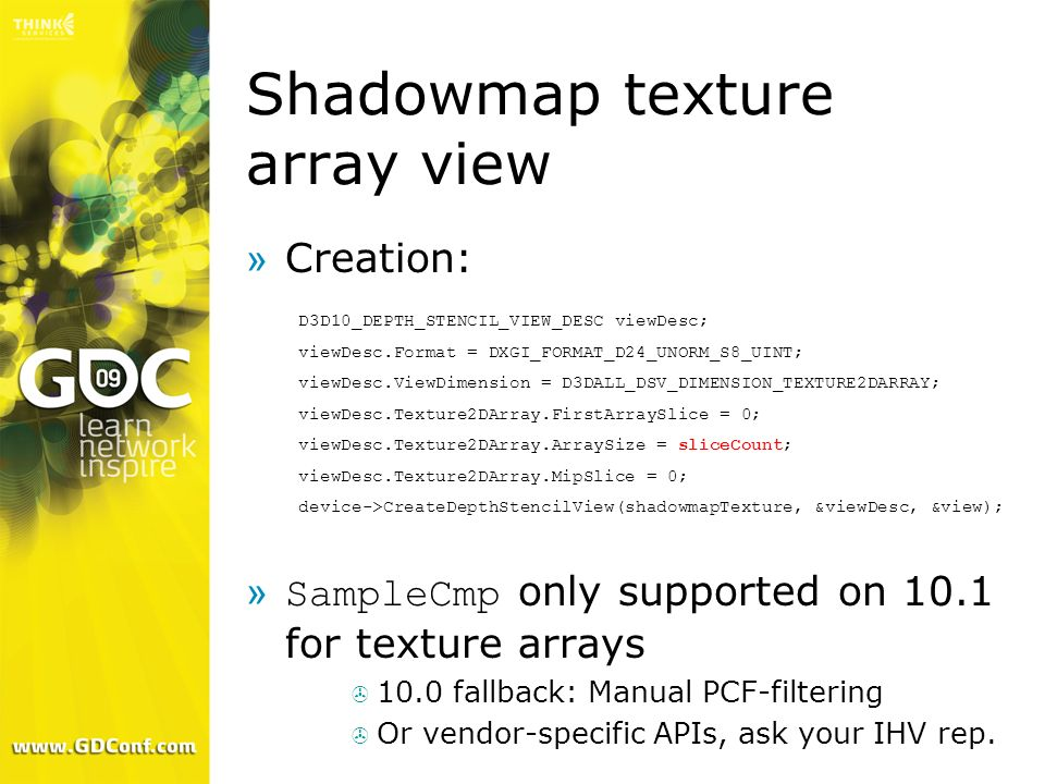 Shadowmap texture array view