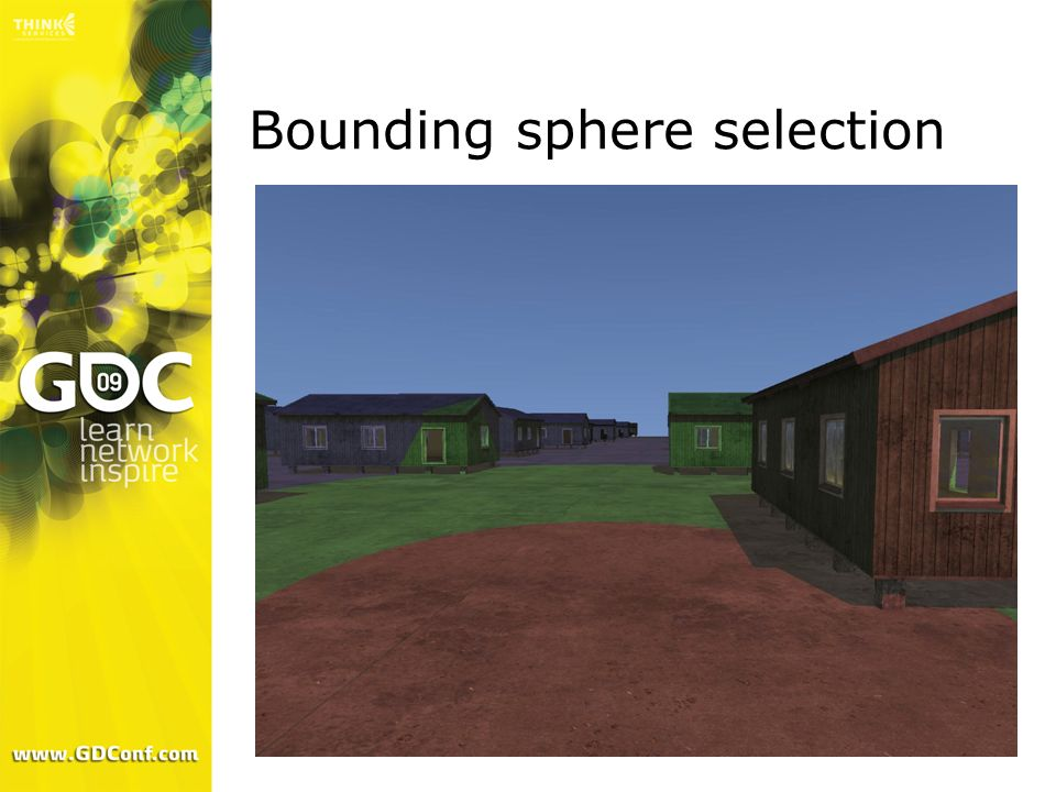 Bounding sphere selection