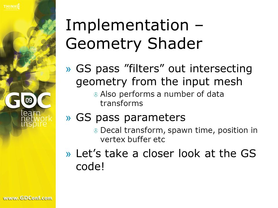 Implementation – Geometry Shader