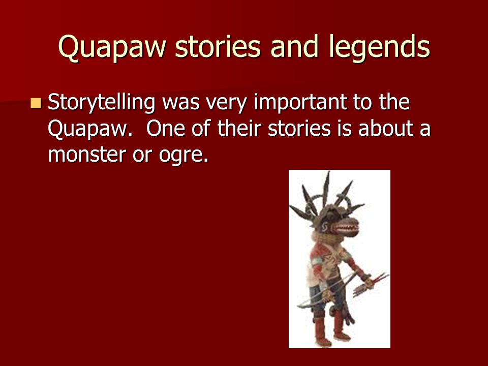 Quapaw stories and legends