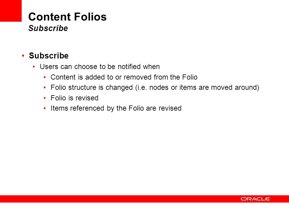 Content Folios Subscribe