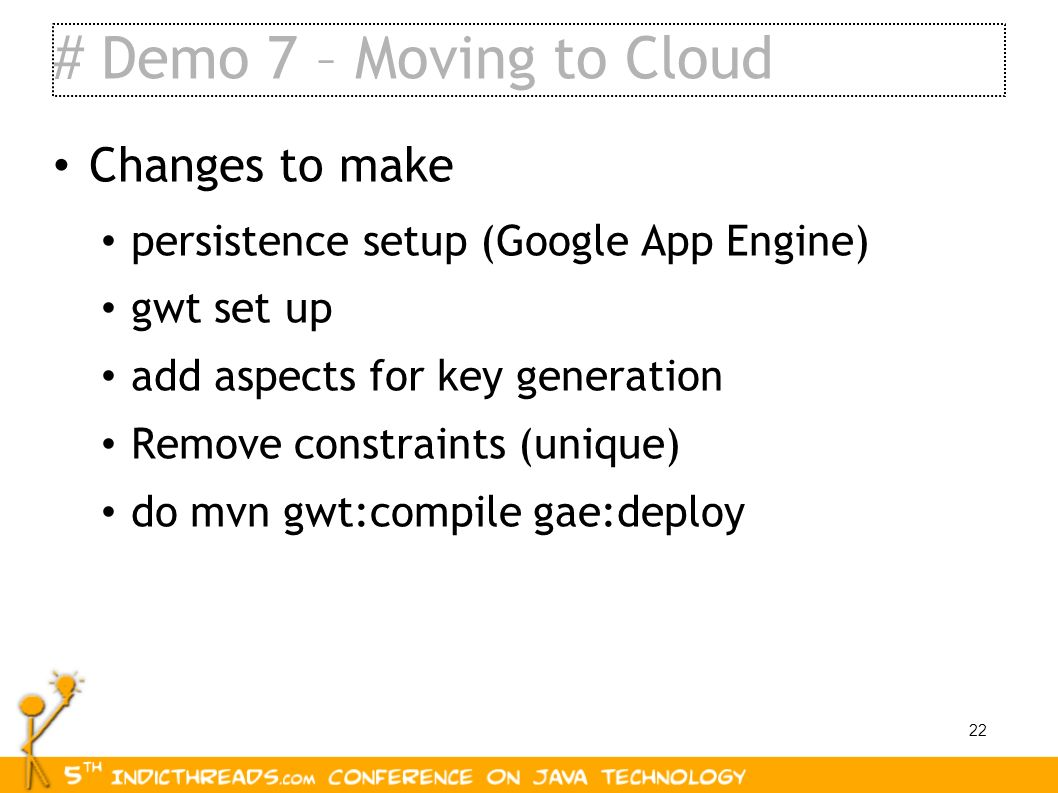 # Demo 7 – Moving to Cloud Changes to make