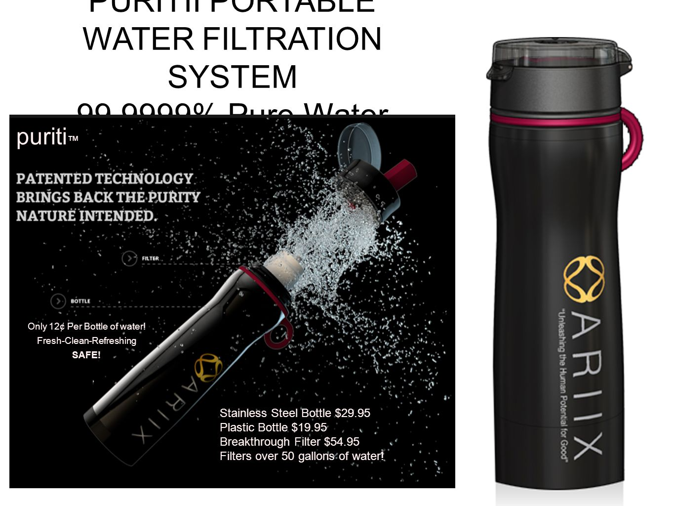 WATER FILTRATION SYSTEM % Pure Water