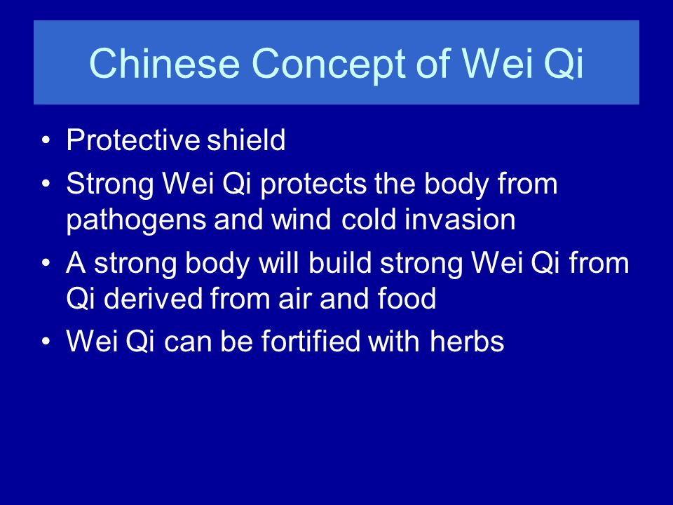 Chinese Concept of Wei Qi