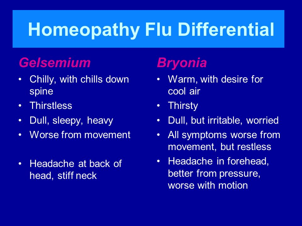 Homeopathy Flu Differential
