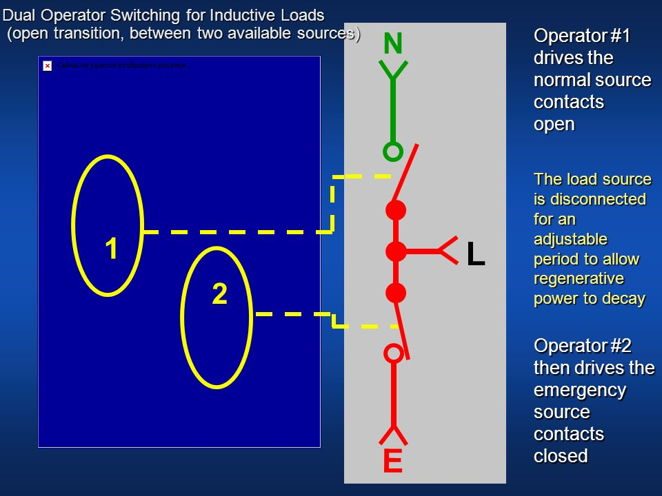 L E E L E L 1 N N N 2 Operator #1 drives the normal source contacts