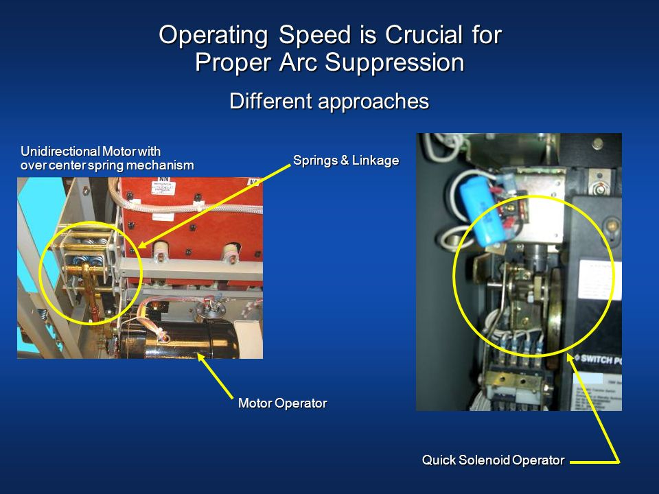 Operating Speed is Crucial for Proper Arc Suppression