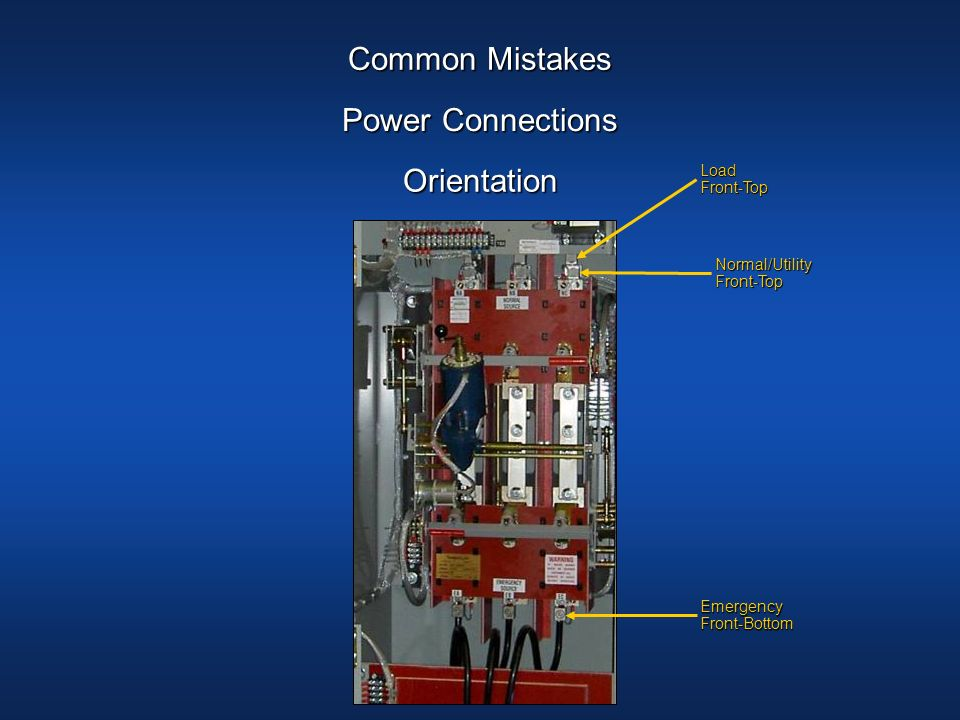 Common Mistakes Power Connections Orientation Load Front-Top