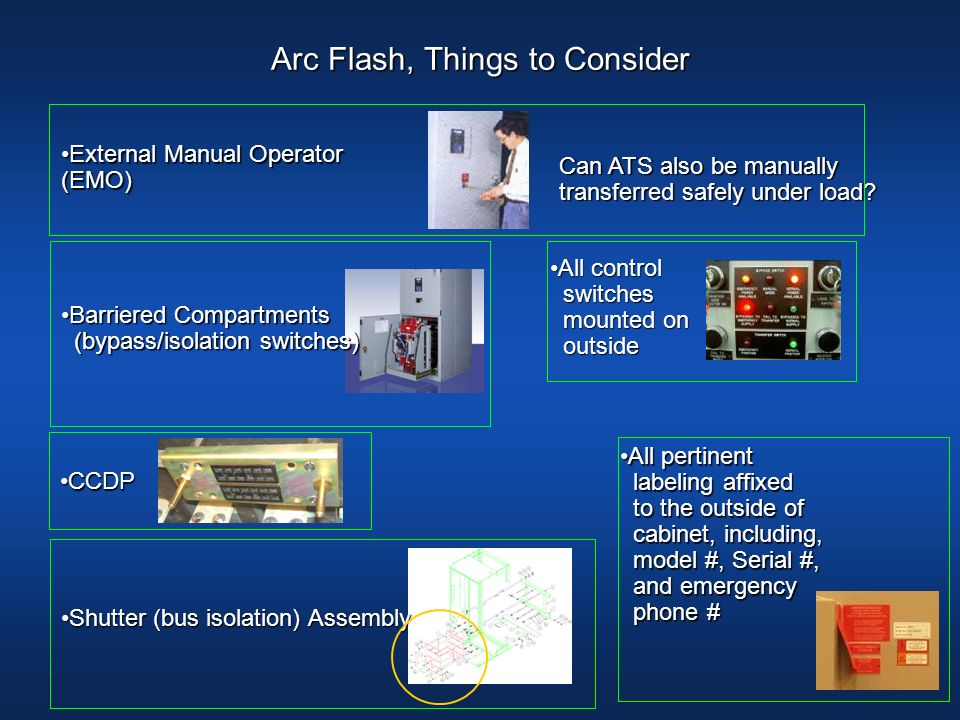 Arc Flash, Things to Consider